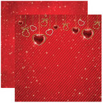 Reminisce - Magical Love Collection - 12 x 12 Double Sided Paper - Heart Strings