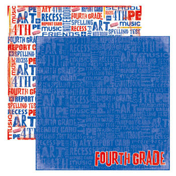 Reminisce - Making the Grade Collection - 12 x 12 Double Sided Paper - Fourth Grade