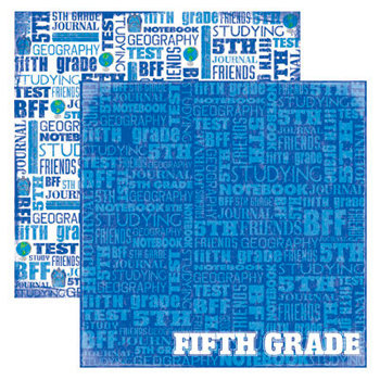 Reminisce - Making the Grade Collection - 12 x 12 Double Sided Paper - Fifth Grade