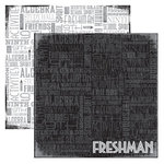 Reminisce - Making the Grade Collection - 12 x 12 Double Sided Paper - Freshman