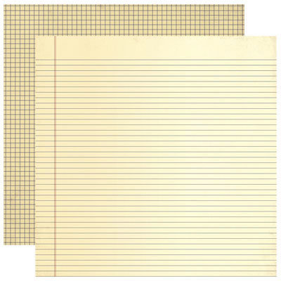 Reminisce - Making the Grade Collection - 12 x 12 Double Sided Paper - Study Hall