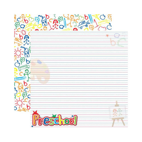 Reminisce - Making the Grade Collection - 12 x 12 Double Sided Paper - Preschool 2