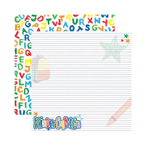 Reminisce - Making the Grade Collection - 12 x 12 Double Sided Paper - Kindergarten 2