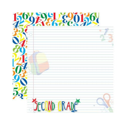 Reminisce - Making the Grade Collection - 12 x 12 Double Sided Paper - Second Grade 2