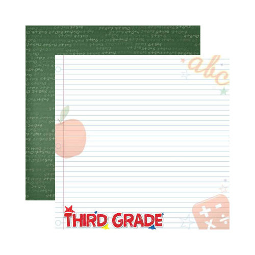 Reminisce - Making the Grade Collection - 12 x 12 Double Sided Paper - Third Grade 2