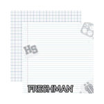 Reminisce - Making the Grade Collection - 12 x 12 Double Sided Paper - Freshman 2