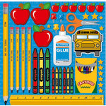 Reminisce - Making the Grade Collection - 12 x 12 Cardstock Stickers - Grade School