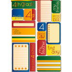 Reminisce - Making the Grade Collection - Die Cut Cardstock Stickers - Fourth Grade Quote