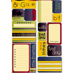 Reminisce - Making the Grade Collection - Die Cut Cardstock Stickers - Eight Grade Quote