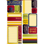 Reminisce - Making the Grade Collection - Die Cut Cardstock Stickers - Junior Quote
