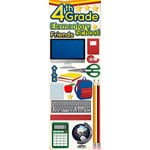 Reminisce - Making the Grade Collection - 3 Dimensional Die Cut Stickers - Fourth Grade