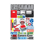 Reminisce - Making the Grade Collection - 3 Dimensional Die Cut Stickers - Freshman 2