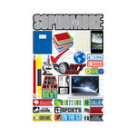 Reminisce - Making the Grade Collection - 3 Dimensional Die Cut Stickers - Sophomore 2