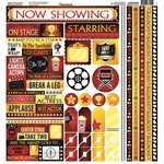 Reminisce - Now Showing Collection - 12 x 12 Cardstock Stickers - Multi
