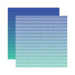 Reminisce - Ombre Collection - 12 x 12 Double Sided Paper - Paradise Waves