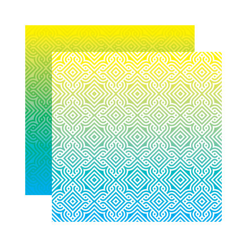 Reminisce - Ombre Collection - 12 x 12 Double Sided Paper - Tropical Sunrise