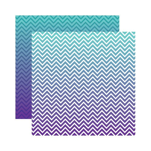 Reminisce - Ombre Collection - 12 x 12 Double Sided Paper - Deep Sea