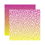 Reminisce - Ombre Collection - 12 x 12 Double Sided Paper - Crimson Sky