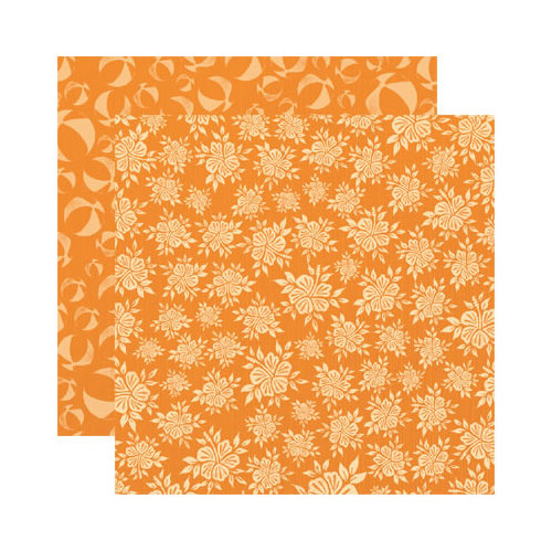 Reminisce - Paradise Collection - 12 x 12 Double Sided Paper - Floral Paradise