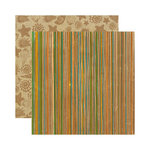 Reminisce - Paradise Collection - 12 x 12 Double Sided Paper - Paradise Stripe