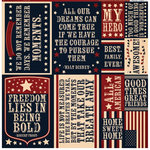 Reminisce - Party in the USA - 12 x 12 Cardstock Stickers