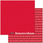 Reminisce - Passports Collection - 12 x 12 Double Sided Paper - Amsterdam