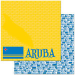 Reminisce - Passports Collection - 12 x 12 Double Sided Paper - Aruba