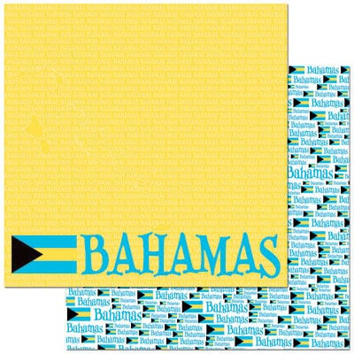 Reminisce - Passports Collection - 12 x 12 Double Sided Paper - Bahamas