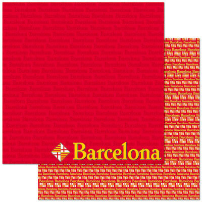 Reminisce - Passports Collection - 12 x 12 Double Sided Paper - Barcelona