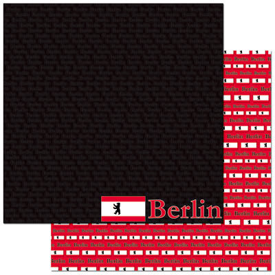 Reminisce - Passports Collection - 12 x 12 Double Sided Paper - Berlin
