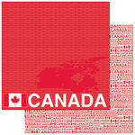 Reminisce - Passports Collection - 12 x 12 Double Sided Paper - Canada