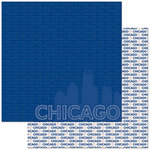 Reminisce - Passports Collection - 12 x 12 Double Sided Paper - Chicago