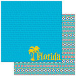 Reminisce - Passports Collection - 12 x 12 Double Sided Paper - Florida