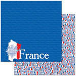 Reminisce - Passports Collection - 12 x 12 Double Sided Paper - France