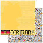 Reminisce - Passports Collection - 12 x 12 Double Sided Paper - Germany