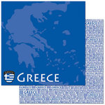 Reminisce - Passports Collection - 12 x 12 Double Sided Paper - Greece