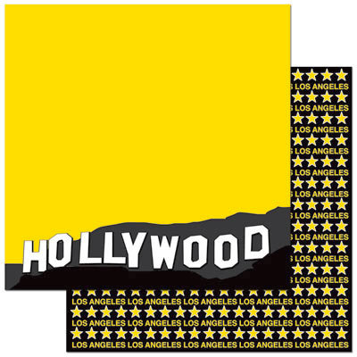 Reminisce - Passports Collection - 12 x 12 Double Sided Paper - Hollywood