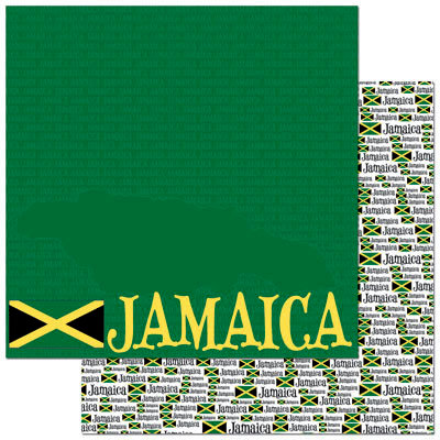 Reminisce - Passports Collection - 12 x 12 Double Sided Paper - Jamaica