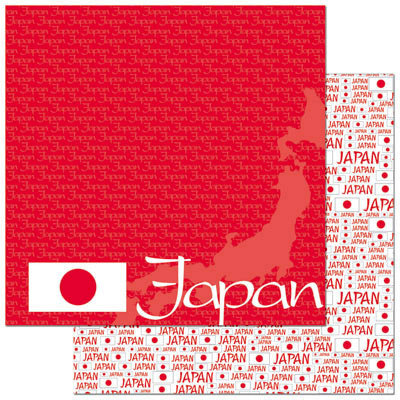 Reminisce - Passports Collection - 12 x 12 Double Sided Paper - Japan