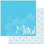 Reminisce - Passports Collection - 12 x 12 Double Sided Paper - Maui