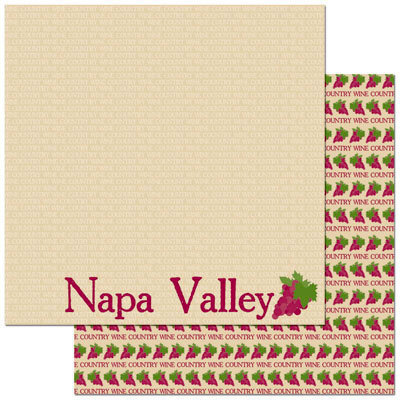 Reminisce - Passports Collection - 12 x 12 Double Sided Paper - Napa Valley