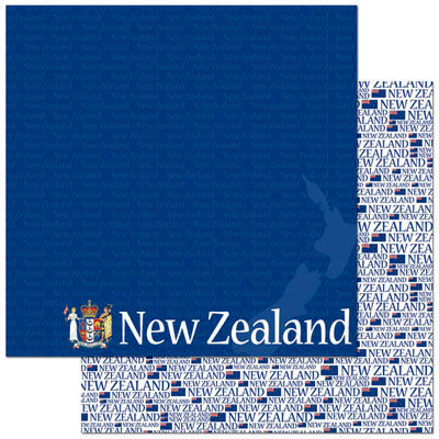 Reminisce - Passports Collection - 12 x 12 Double Sided Paper - New Zealand