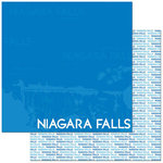 Reminisce - Passports Collection - 12 x 12 Double Sided Paper - Niagara Falls