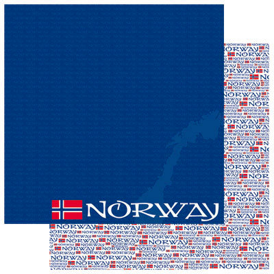 Reminisce - Passports Collection - 12 x 12 Double Sided Paper - Norway