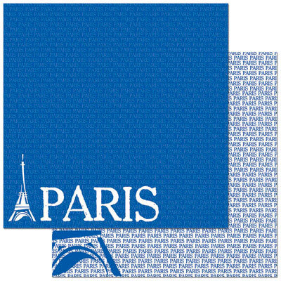 Reminisce - Passports Collection - 12 x 12 Double Sided Paper - Paris