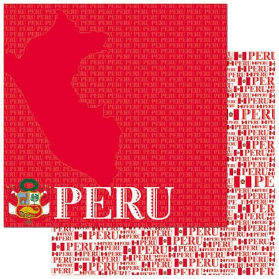 Reminisce - Passports Collection - 12 x 12 Double Sided Paper - Peru