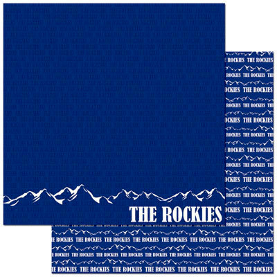 Reminisce - Passports Collection - 12 x 12 Double Sided Paper - Rocky Mountains
