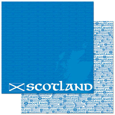 Reminisce - Passports Collection - 12 x 12 Double Sided Paper - Scotland