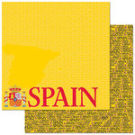 Reminisce - Passports Collection - 12 x 12 Double Sided Paper - Spain