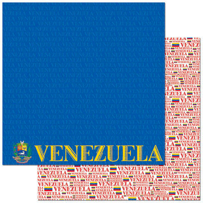 Reminisce - Passports Collection - 12 x 12 Double Sided Paper - Venezuela